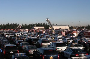 Staging area at McChord AFB